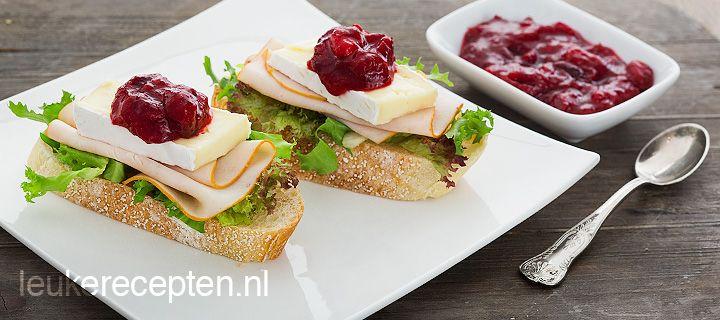 brood met kalkoen en cranberry