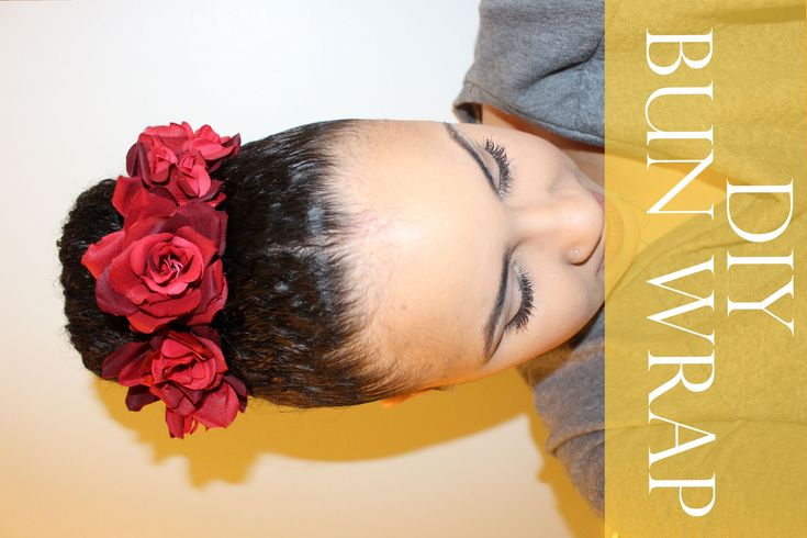 11. DIY! Flower Bun Wrap For Natural Hair