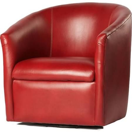 $300 Sam's Teal or Red small swivel barrel chairs - Google Search
