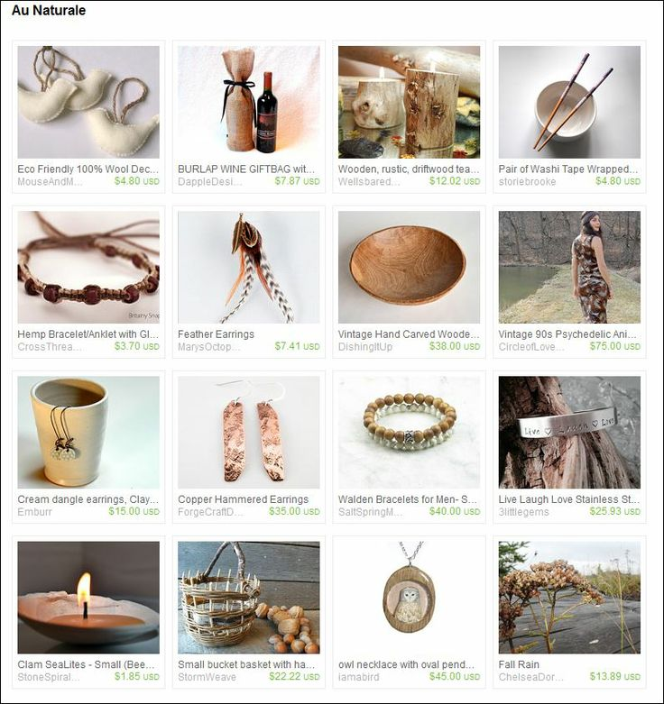 Curated by Micki and Cheryl from A2SeaCreations on Etsy https://www.etsy.com/treasury/Njc5MDY2M3wyNzIzMzEwMDkx/au-naturale