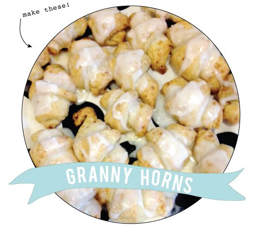 the most delicious little breakfast treats. Recipe for Granny Horns from Jones Design Company.