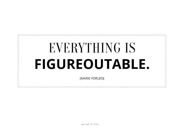 Everything is figureoutable - Marie Forleo