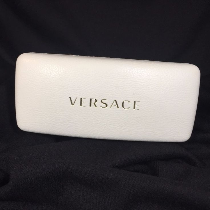 VERSACE White Eyeglass Sunglass LARGE Hard Case ONLY w/Cloth
