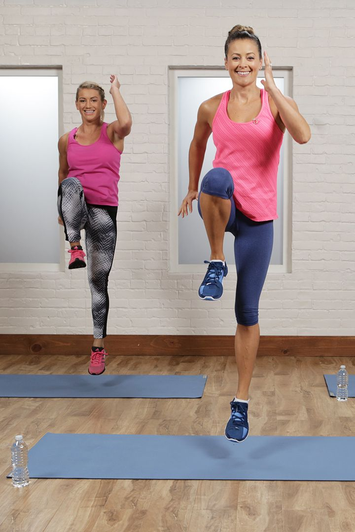 Get ready to burn major calories —all you need to do is press play! This at-home cardio workout requires no equipment and can be modified for all fitness levels.