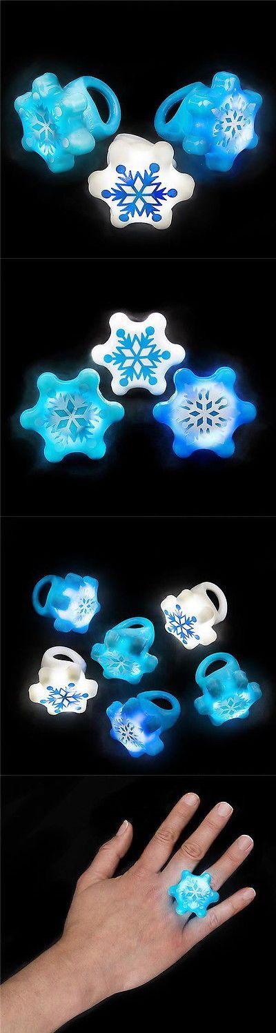 Novelty Vending Toys 51025: 100 Wholesale Led Light Up Flashing Snowflake Rings Frozen Snow Ring Favors -> BUY IT NOW ONLY: $46.37 on eBay!