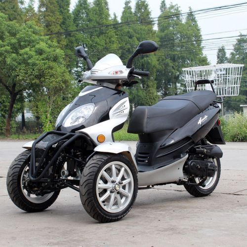 Gas Scooters 75211: Nb 49Cc Trike Scooter Gas Moped Black 3 Wheels Df50tka With Rear Carrier -> BUY IT NOW ONLY: $1999.99 on eBay!