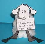 Lost Sheep Cup Craft - can put the Bible verse for the lesson on the paper the sheep is holding
