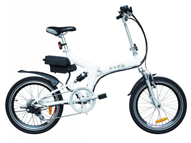 Vélo électrique pliant EVEO 130 blanc