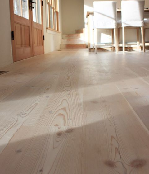Douglas Fir Wood floors treated with WOCA Wood Lye and finished with WOCA Natural Soap