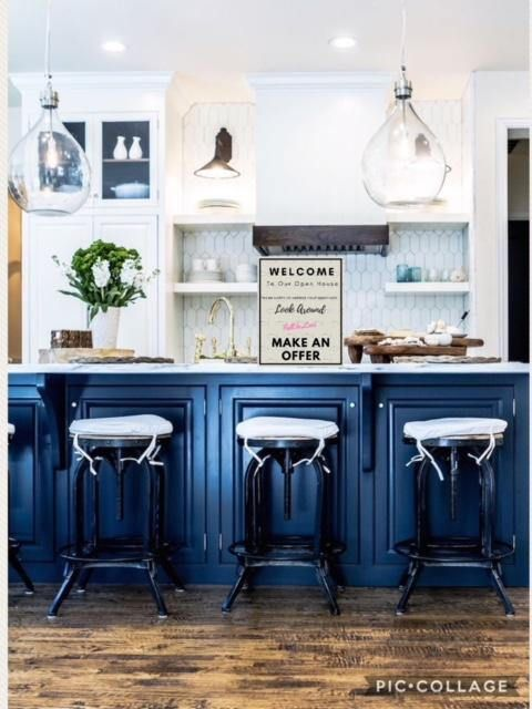 Ugh, Is It Too Soon To Change The Color Of My Kitchen Cabinets From Grey To  Blue? Iu0027m Crushing Hard On These Kitchens Painted In A Multitu.