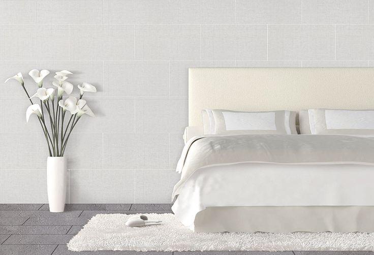 Revestimiento vinílico de pared imitación cerámica con acabado en color blanco. Especialmente indicado para zonas interiores  de viviendas o locales, soportando...