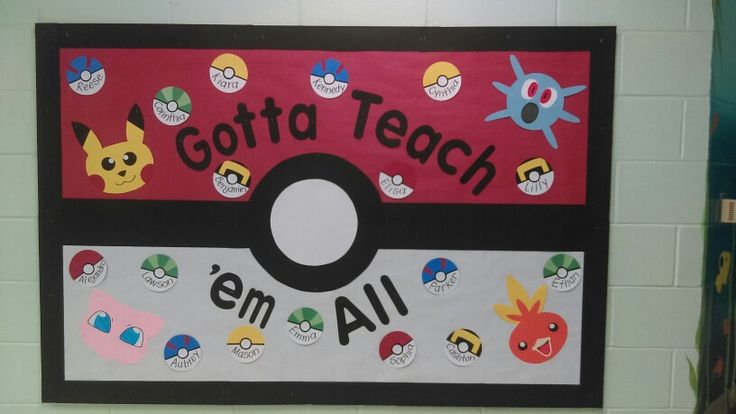 Vpk Classroom Ideas ~ My pokemon board for welcoming new students to vpk