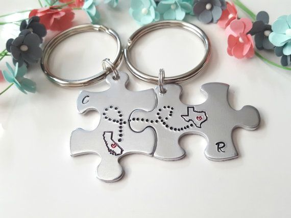 Graduation Gift, Class of 2018, Best Friend Keychains, Long Distance Friends, Going Away Gift, Going Away to College, Different States