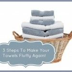 I love soft and fluffy towels. But sometimes my towels seem a little well lackluster. I wash them and a couple days later they are not very fluffy, so sad! This stems from hard water and detergent build up. Simply your towel fibers are packed down with build up, this also lessens their ability to absorb water!  Want to make your towels soft and fluffy again? Try these easy ideas