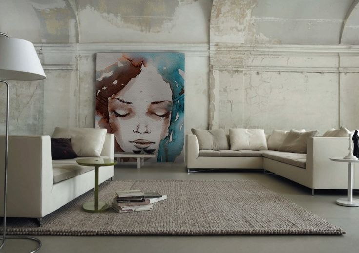 Paint-like Wall Murals - for having such a fine palette to start from, I do not understand what these austere 90th century furniture making there? I mean furniture that was already sad when they left the factory ..