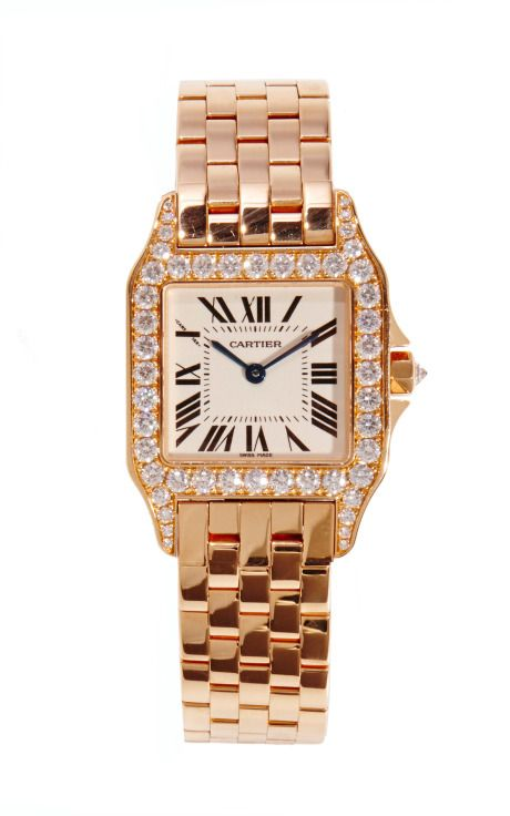 18K Rose Gold & Diamond Santos Demoiselles from CMT Cartier by CMT Fine Watch and Jewelry Advisors for Preorder on Moda Operandi