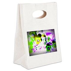 Violets Canvas Lunch Tote