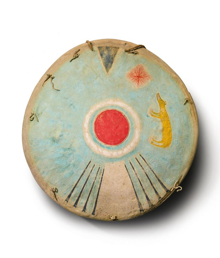 "anne-sophie-tschiegg: "" Comanche Painted Hide Shield , 19th century. """