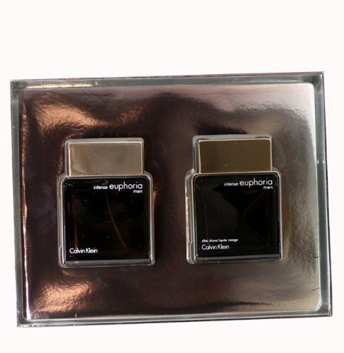 Euphoria Intense Cologne by Calvin Klein for Men. Gift Set by Calvin Klein. $67.99. Gift Set ( Eau De Toilette Spray 3.4 Oz / 100 Ml + Aftershave 3.4 Oz / 100 Ml ) for Men. We offer many great sales and discounts making this fragrance cheaper than at department stores.. Euphoria Intense Cologne for Men Gift Set ( Eau De Toilette Spray 3.4 Oz / 100 Ml + Aftershave 3.4 Oz / 100 Ml ). All our fragrances are 100% originals by their original designers. We do not sell any knocko...