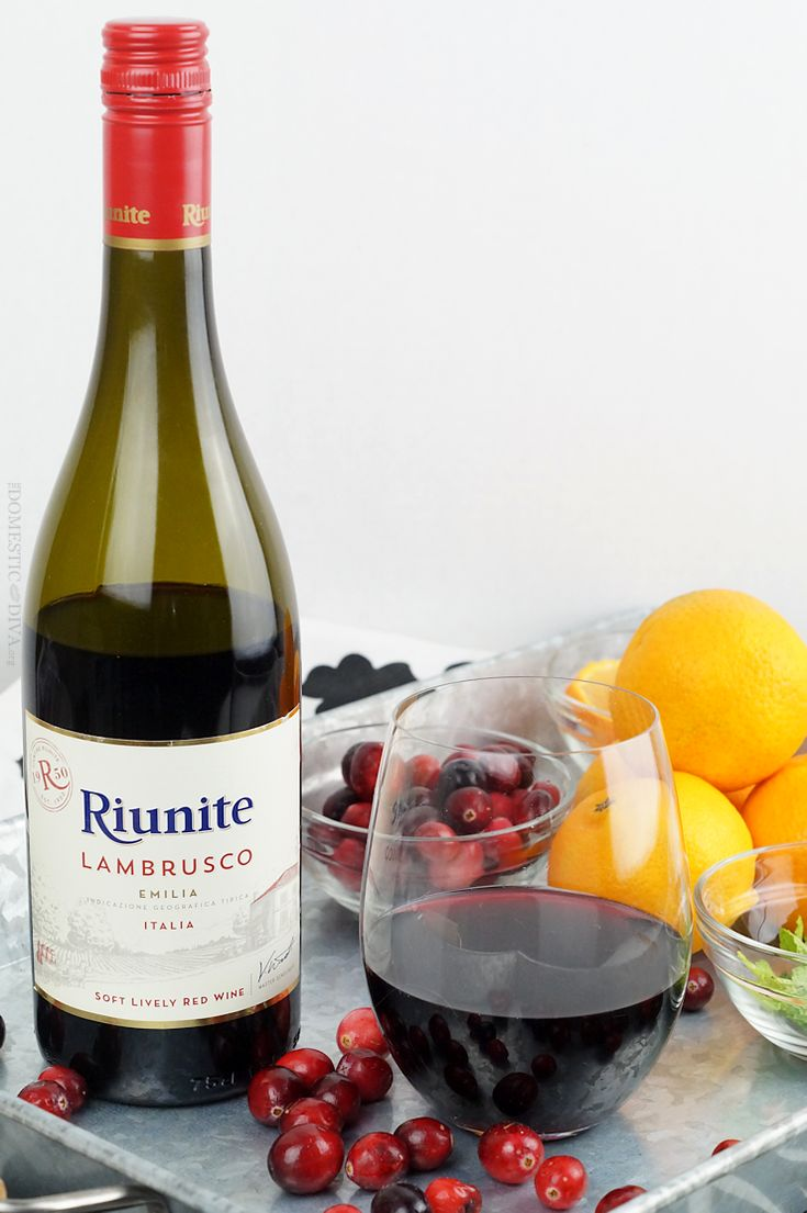 Single Serve Holiday Sangria with Riunite Lambrusco