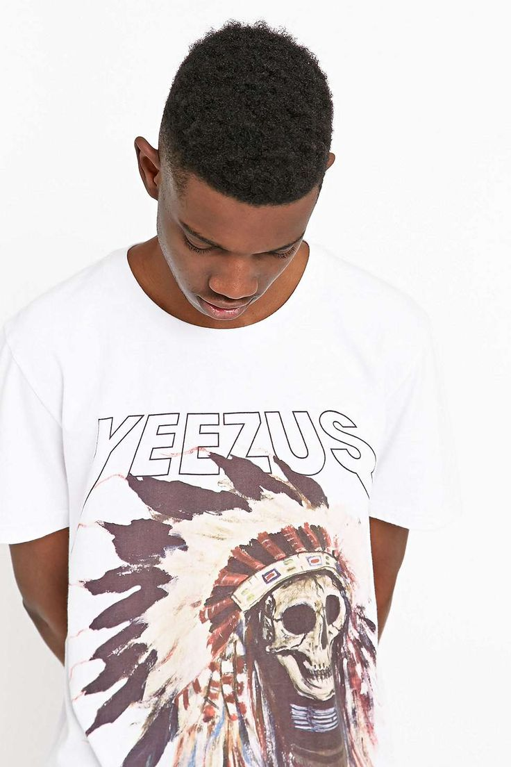 "T-Shirt ""Kanye West Yeezus Native"" in Weiß"