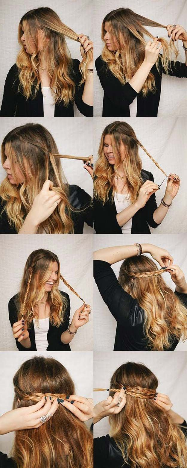 Best Hairstyles for Long Hair - Quick Hairstyle - Step by Step Tutorials for Easy Curls, Updo, Half Up, Braids and Lazy Girl Looks. Prom Ideas, Special Occasion Hair and Braiding Instructions for Teens, Teenagers and Adults, Women and Girls