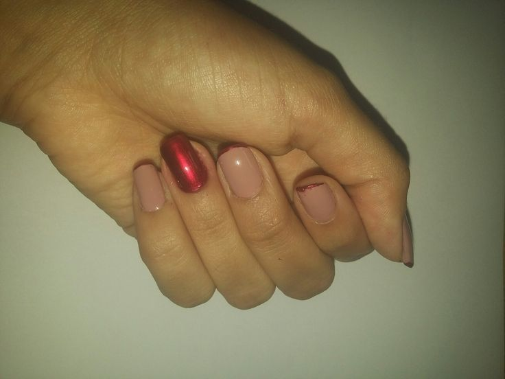 Nail made with Risque Rubi and Bali