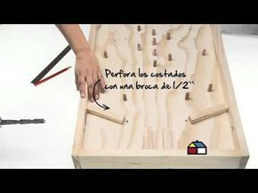 ¿Cómo hacer un juego de pinball o flipper de madera? - YouTube