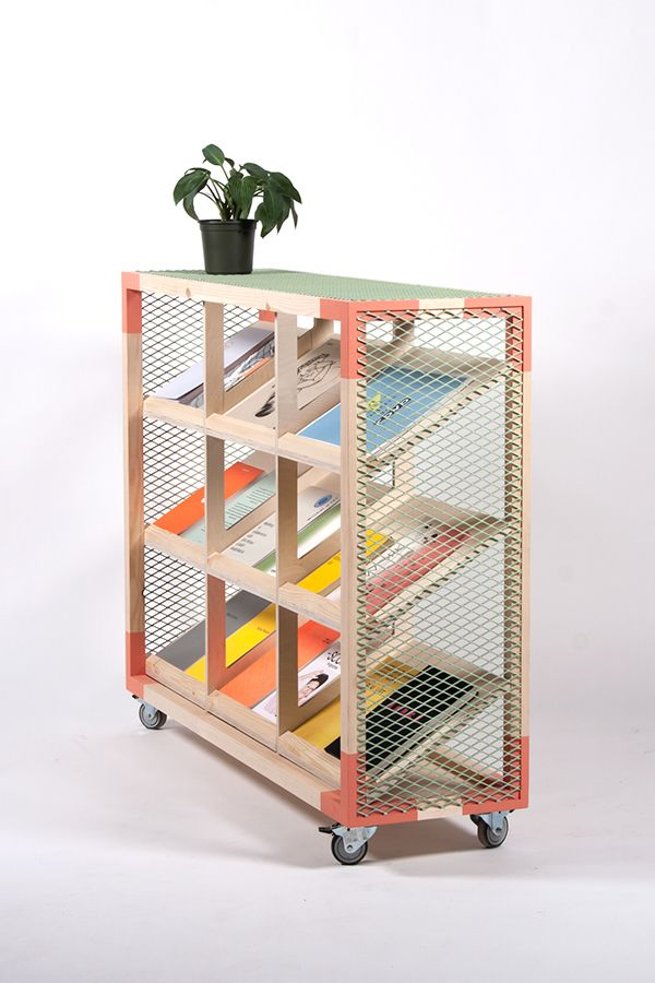 KIXBOX book shelving rack furniture design colors by Maxim Scherbakov