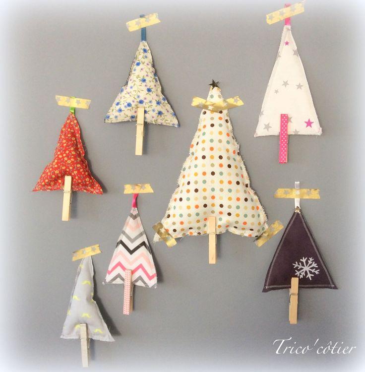 Diy d co facile pour no l des sapins suspendre agla couture sewing - Pinterest couture deco ...