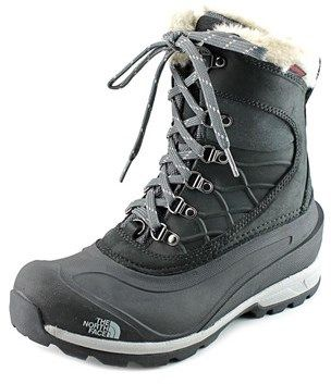 The North Face Chilkat 400 Women Round Toe Leather Black Snow Boot.