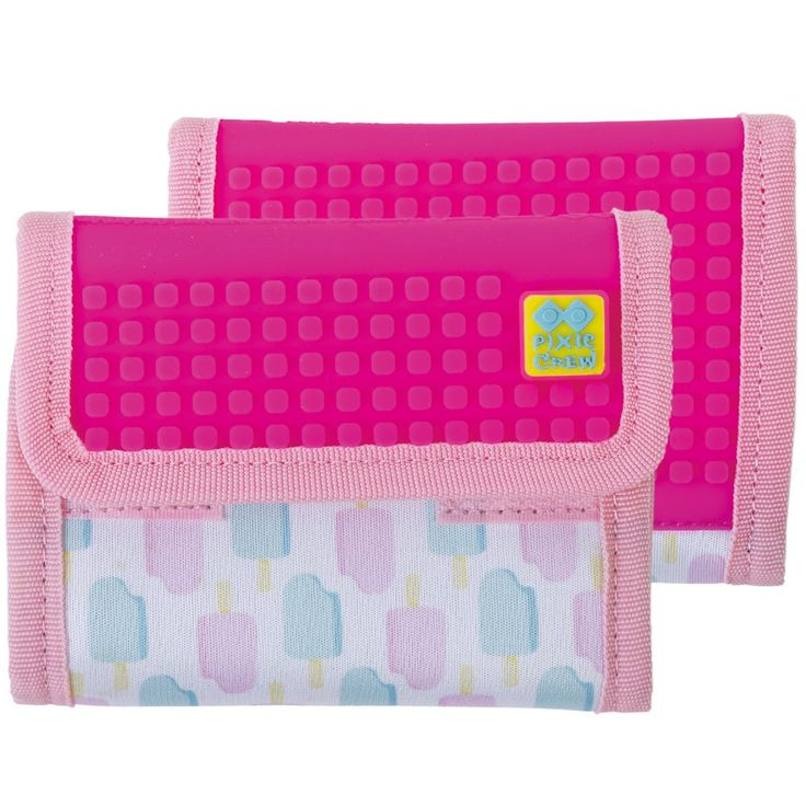 PIXIE CREW Wallet ICE CREAMS/NEON PINK