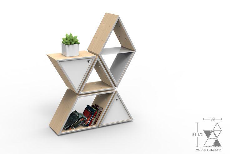 Small Plywood Tetra Shelf 3 – Vintage Industrial Furniture