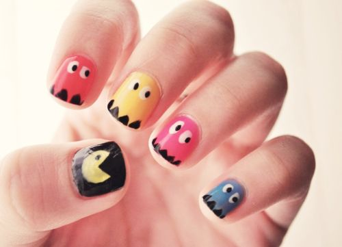 pacman, inky, blinky, pinky and clyde