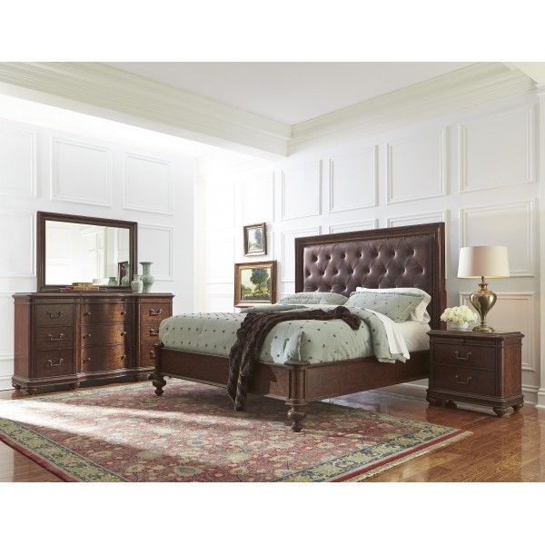 Montgomery, Montgomery California King Platform Bed in Cherry, Dining Room Table Sets, Bedroom Furniture, Curio Cabinets and Solid Wood Furniture - Model ...