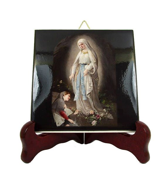 Religious gifts  Our Lady of Lourdes  catholic icon on