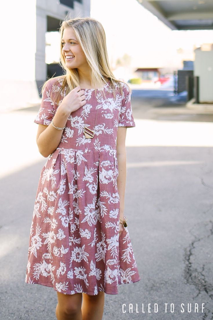 Medina Pleated Dress | Bring on the compliments in this pretty in pink dress! Lose yourself in dress heaven at calledtosurf.com