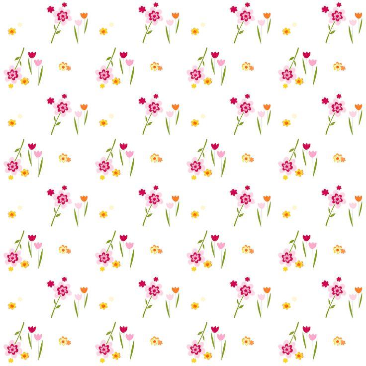 FREE printable floral pattern paper  | MeinLilaPark