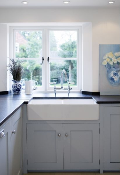 Beautiful sink and traditional taps