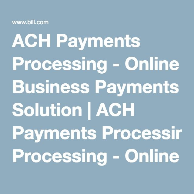 how to make an ach electronic payment