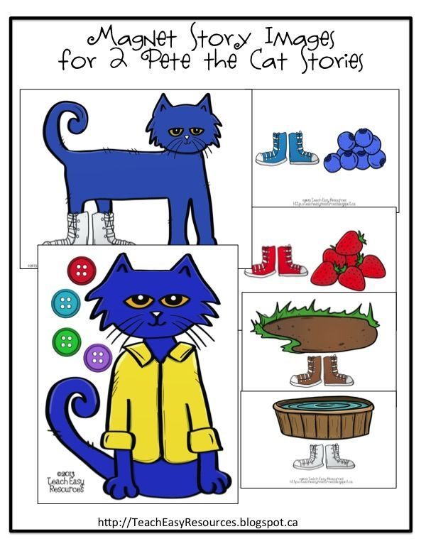 images to retell pete the cat i my white shoes and