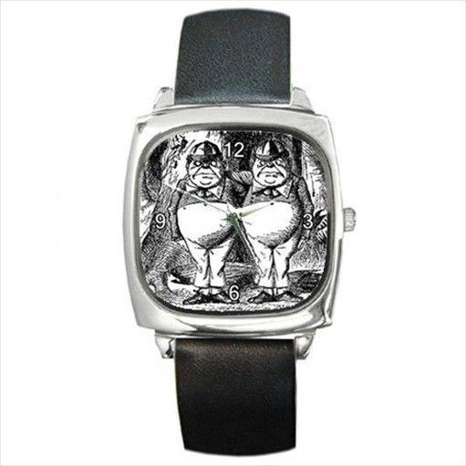 Tweedle Dee Tweedle Dum Alice In Wonderland Wrist Watch #Casual #shopping #watch #weird