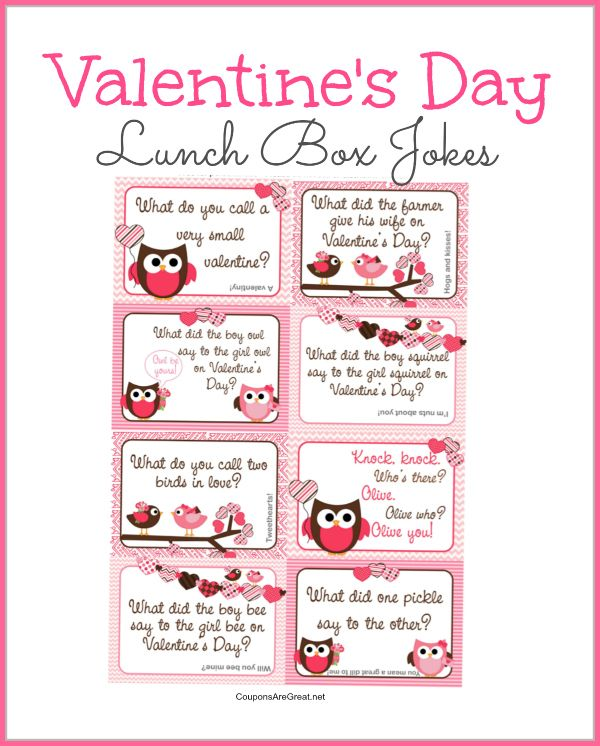 Spread some love with this printable Valentine's Day Lunch Box Notes freebie. #freebie #lunchbox #jokesforkids