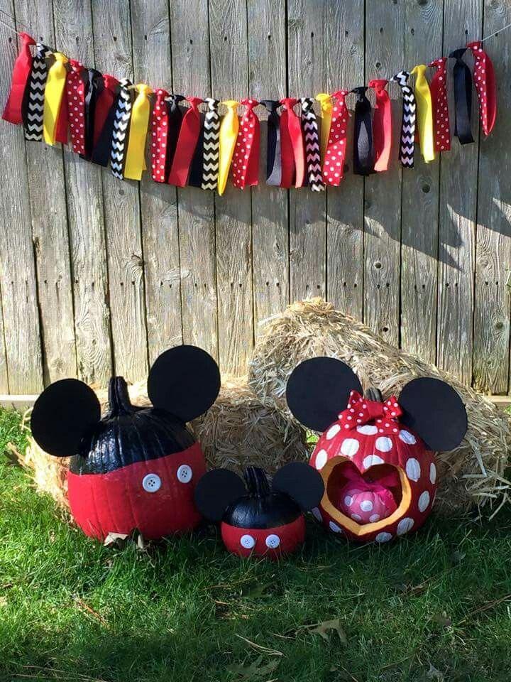 Disney Mickey Mouse pumpkin pregnancy announcement