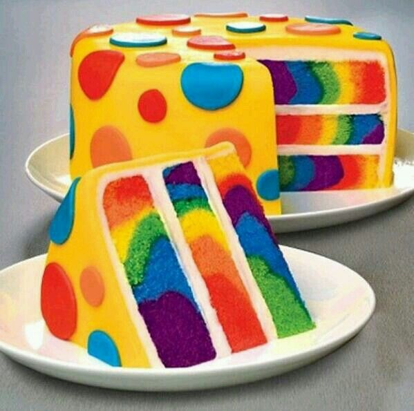 I made this for Matthew's birthday a few years back~ totally cool & really not that hard. Mine didn't have the fondant on top but the inside was wicked cool like this! :)