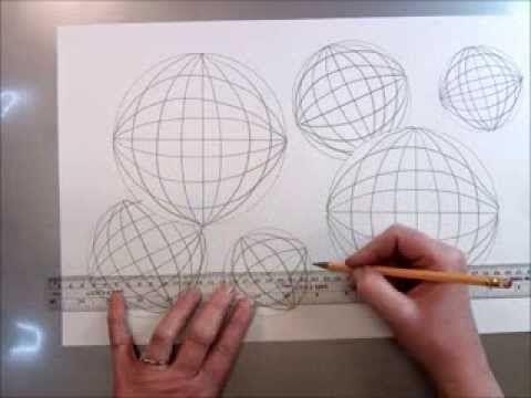 Tumbling Spheres Op Art Drawing - YouTube