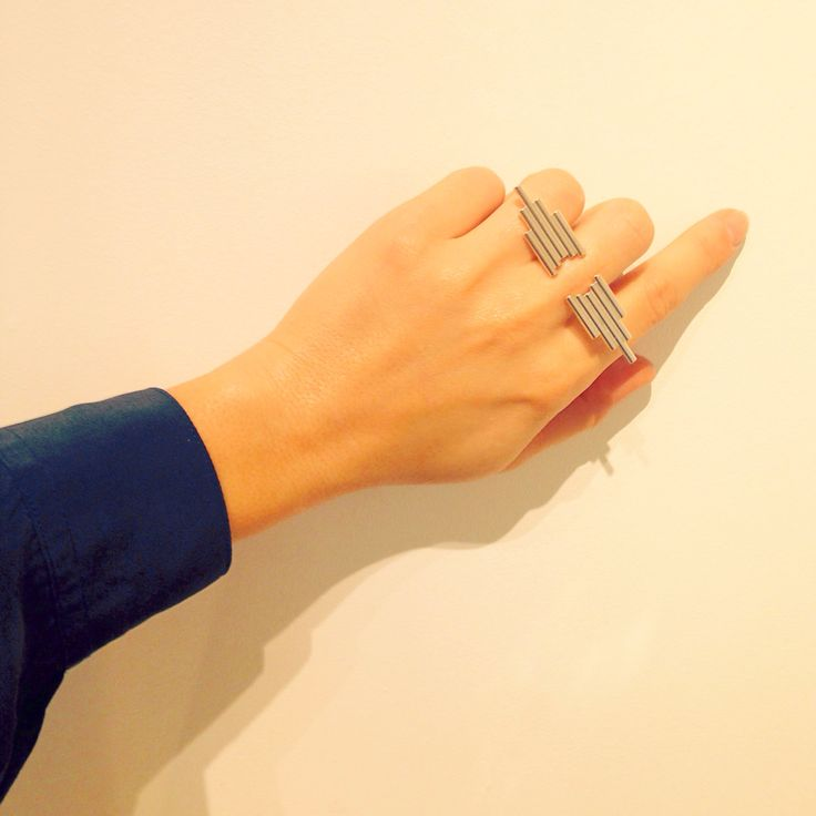 Made by Ella PIPE ring, silver...
