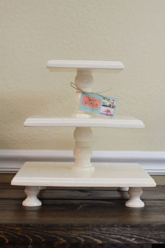 Short Three Tiered Square Cupcake Stand Color of by sweetdisplay
