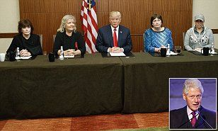'Bill raped me and Hillary threatened me!' Trump reveals he is bringing FOUR Clinton 'sex victims' to tonight's debate just 90 minutes before it starts - to cast BOTH of them as sexual abusers