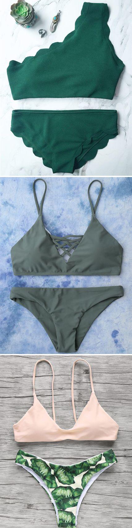 Swimwear in Zaful |swimsuits,bathing suit,bikini,bikini set,one pieces,swimwear 2017,beach outfit,bikinis,beach,beach wear,Hawaii,summer bikinis,st patricks,st patricks day,st patrick's day | #stpatricks